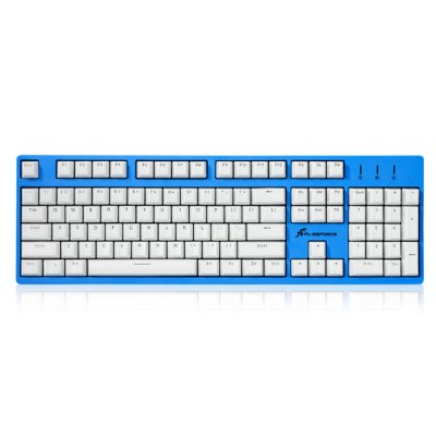 FLESPORT MKA104S Mechanical Keyboard for GamingKeyboards<br>FLESPORT MKA104S Mechanical Keyboard for Gaming<br><br>Anti-ghosting Number: 104<br>Backlight Type: Monochromatic light<br>Bluetooth Version: Not Supported<br>Brand: FLESPORT<br>Connection: Wired<br>Features: Illuminated, Gaming, Ergonomic<br>Interface: USB 2.0<br>Key Number: 104<br>Keyboard Lifespan ( times): 50 million<br>Keyboard Type: Mechanical Keyboard<br>Material: ABS<br>Model: MKA104S<br>Package Contents: 1 x FLESPORT MKA104S Mechanical Gaming Keyboard ( 1.8m Line )<br>Package size (L x W x H): 50.00 x 17.00 x 6.50 cm / 19.69 x 6.69 x 2.56 inches<br>Package weight: 1.3200 kg<br>Product size (L x W x H): 44.00 x 13.80 x 3.20 cm / 17.32 x 5.43 x 1.26 inches<br>Product weight: 1.3000 kg<br>Response Speed: 2ms<br>Type: Keyboard