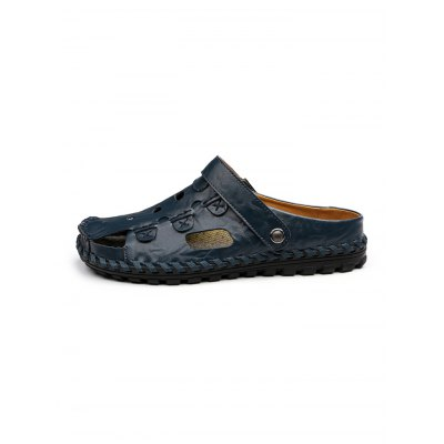 Breathable Dual Use SlippersMens Slippers<br>Breathable Dual Use Slippers<br><br>Contents: 1 x Pair of Shoes<br>Materials: Artificial leather<br>Occasion: Casual<br>Package Size ( L x W x H ): 33.00 x 22.00 x 11.00 cm / 12.99 x 8.66 x 4.33 inches<br>Package Weights: 0.830kg<br>Product Size  ( L x W x H ): 33.00 x 22.00 x 11.00 cm / 12.99 x 8.66 x 4.33 inches<br>Seasons: Summer<br>Style: Leisure<br>Type: Slippers