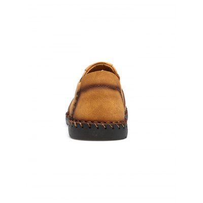 Slip On Leather ShoesCasual Shoes<br>Slip On Leather Shoes<br><br>Contents: 1 x Pair of Shoes<br>Materials: Artificial leather<br>Occasion: Casual<br>Package Size ( L x W x H ): 33.00 x 22.00 x 11.00 cm / 12.99 x 8.66 x 4.33 inches<br>Package Weights: 0.860kg<br>Product Size  ( L x W x H ): 33.00 x 22.00 x 11.00 cm / 12.99 x 8.66 x 4.33 inches<br>Seasons: Autumn,Spring,Summer<br>Style: Comfortable<br>Type: Casual Shoes