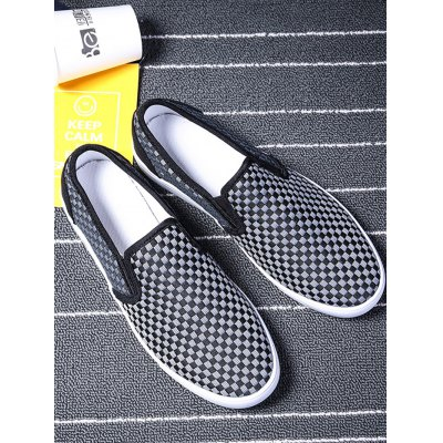Men Slip On Canvas ShoesCasual Shoes<br>Men Slip On Canvas Shoes<br><br>Contents: 1 x Pair of Shoes<br>Materials: Canvas<br>Occasion: Casual<br>Package Size ( L x W x H ): 31.00 x 18.50 x 11.00 cm / 12.2 x 7.28 x 4.33 inches<br>Package Weights: 0.580kg<br>Product Size  ( L x W x H ): 30.00 x 9.50 x 9.00 cm / 11.81 x 3.74 x 3.54 inches<br>Seasons: Autumn,Spring,Summer<br>Style: Leisure<br>Type: Casual Shoes