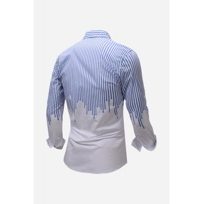 Pure Cotton Striped Men Shirt with Long SleeveMens Shirts<br>Pure Cotton Striped Men Shirt with Long Sleeve<br><br>Material: Cotton<br>Package Contents: 1 x Shirt<br>Package size: 36.00 x 26.00 x 2.00 cm / 14.17 x 10.24 x 0.79 inches<br>Package weight: 0.3400 kg<br>Product weight: 0.3000 kg