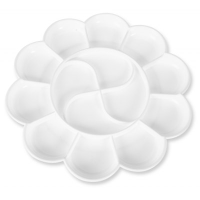 Deli 9403 Color Mixing Tray 14 Holes Palette for Painting
