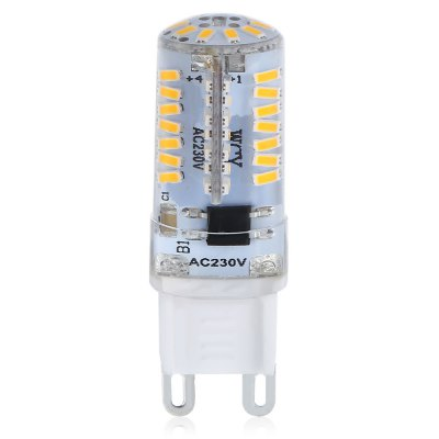 10PCS 3W G9 66SMD 3014 JTFL200 - ly LED Corn LightsCorn Bulbs<br>10PCS 3W G9 66SMD 3014 JTFL200 - ly LED Corn Lights<br><br>Available Light Color: White<br>CCT/Wavelength: 3000-3500K<br>Certifications: CE,RoHs<br>Emitter Types: SMD 3014<br>Features: Dimmable<br>Function: Home Lighting<br>Holder: G9<br>Lifespan: More than 15000 hours<br>Luminous Flux: 200 - 220<br>Package Contents: 10 x LED Corn Light<br>Package size (L x W x H): 10.20 x 9.50 x 2.60 cm / 4.02 x 3.74 x 1.02 inches<br>Package weight: 0.1200 kg<br>Product size (L x W x H): 4.80 x 1.60 x 1.60 cm / 1.89 x 0.63 x 0.63 inches<br>Product weight: 0.0900 kg<br>Sheathing Material: Silicone<br>Total Emitters: 66<br>Type: Corn Bulbs<br>Voltage (V): AC 230<br>Wattage Range: ?5W