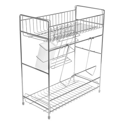 2-tier Stainless Steel Kitchen Utensil RackOther Kitchen Accessories<br>2-tier Stainless Steel Kitchen Utensil Rack<br><br>Available Color: Silver<br>Material: Stainless Steel<br>Package Contents: 1 x Kitchen Rack<br>Package size (L x W x H): 42.50 x 18.70 x 35.00 cm / 16.73 x 7.36 x 13.78 inches<br>Package weight: 1.5330 kg<br>Type: Other Kitchen Accessories