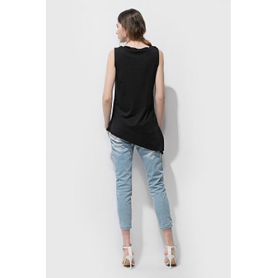 Hollow-out Asymmetric Sleeveless T-shirt Tank Top for WomenTees<br>Hollow-out Asymmetric Sleeveless T-shirt Tank Top for Women<br><br>Clothing Length: Regular<br>Collar: Round Collar<br>Material: Polyester, Spandex<br>Package Contents: 1 x T-shirt<br>Package size: 36.00 x 26.00 x 2.00 cm / 14.17 x 10.24 x 0.79 inches<br>Package weight: 0.2000 kg<br>Pattern Type: Solid Color<br>Product weight: 0.1600 kg<br>Season: Summer<br>Sleeve Length: Sleeveless