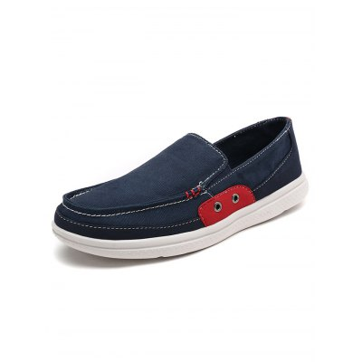 Stylish Slip-on Men Canvas ShoesCasual Shoes<br>Stylish Slip-on Men Canvas Shoes<br><br>Contents: 1 x Pair of Shoes<br>Materials: Canvas<br>Occasion: Casual, Daily<br>Package Size ( L x W x H ): 34.00 x 23.00 x 12.00 cm / 13.39 x 9.06 x 4.72 inches<br>Package Weights: 0.59<br>Seasons: Autumn,Spring,Summer<br>Style: Leisure<br>Type: Casual Shoes