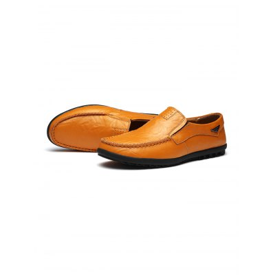 Stylish Casual Slip-on Men Leather ShoesCasual Shoes<br>Stylish Casual Slip-on Men Leather Shoes<br><br>Contents: 1 x Pair of Shoes<br>Materials: Leather<br>Occasion: Casual, Daily<br>Package Size ( L x W x H ): 34.00 x 23.00 x 12.00 cm / 13.39 x 9.06 x 4.72 inches<br>Package Weights: 0.83kg<br>Seasons: Autumn,Spring,Summer<br>Style: Leisure, Fashion, Comfortable<br>Type: Casual Shoes