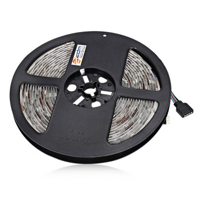 ZDM 5M 36W 5050 SMD 150 LEDs RGB Strip LightLED Strips<br>ZDM 5M 36W 5050 SMD 150 LEDs RGB Strip Light<br><br>Brand: ZDM<br>Features: Cuttable, IP-65, Remote Control<br>Input Voltage: AC100-240<br>LED Type: SMD-5050<br>Length: 5M<br>Material: PCB<br>Package Contents: 1 x ZDM Light Strip, 1 x Remote Control, 1 x Power Driver, 1 x Power Adapter<br>Package size (L x W x H): 12.00 x 12.00 x 4.00 cm / 4.72 x 4.72 x 1.57 inches<br>Package weight: 0.3000 kg<br>Product size (L x W x H): 11.00 x 11.00 x 3.00 cm / 4.33 x 4.33 x 1.18 inches<br>Product weight: 0.2600 kg<br>Rated Power (W): 36W<br>SMD: 5050<br>Type: LED Strip<br>Waterproof: Yes