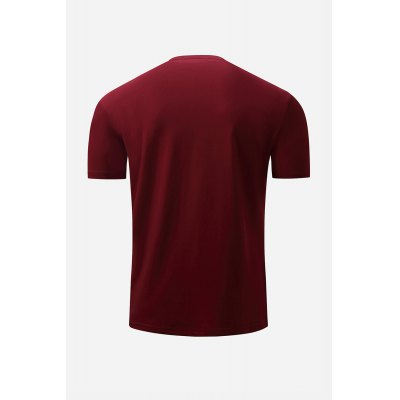 Button Neck T Shirt for MenMens Short Sleeve Tees<br>Button Neck T Shirt for Men<br><br>Material: Cotton<br>Neckline: Round Neck<br>Package Content: 1 x T Shirt<br>Package size: 36.00 x 25.00 x 2.00 cm / 14.17 x 9.84 x 0.79 inches<br>Package weight: 0.2300 kg<br>Pattern Type: Solid<br>Product weight: 0.2000 kg<br>Season: Winter, Summer, Spring, Autumn<br>Sleeve Length: Short Sleeves<br>Style: Casual