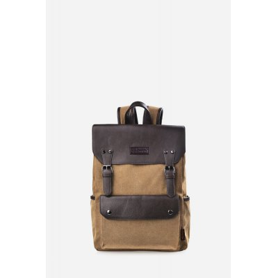 Douguyan 16.9L BackpackBackpacks<br>Douguyan 16.9L Backpack<br><br>Brand: Douguyan<br>Color: Black,Brown<br>Material: Canvas, PU<br>Package Size(L x W x H): 32.00 x 10.00 x 40.00 cm / 12.6 x 3.94 x 15.75 inches<br>Package weight: 0.9800 kg<br>Packing List: 1 x Douguyan Backpack<br>Product Size(L x W x H): 31.00 x 13.00 x 42.00 cm / 12.2 x 5.12 x 16.54 inches<br>Product weight: 0.9300 kg<br>Style: Casual