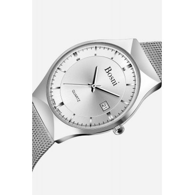 BOSNI GQ8009 Men Quartz Watch Date Display WristwatchMens Watches<br>BOSNI GQ8009 Men Quartz Watch Date Display Wristwatch<br><br>Band material: Steel<br>Band size: 23.00 x 2.00 cm / 9.06 x 0.78 inches<br>Brand: BOSNI<br>Case material: Alloy<br>Clasp type: Hook buckle<br>Dial size: 3.80 x 3.80 x 0.70 cm / 1.50 x 1.50 x 0.28 inches<br>Display type: Analog<br>Movement type: Quartz watch<br>Package Contents: 1 x BOSNI Watch<br>Package size (L x W x H): 26.00 x 5.00 x 2.30 cm / 10.24 x 1.97 x 0.91 inches<br>Package weight: 0.1100 kg<br>Product size (L x W x H): 23.00 x 3.80 x 0.70 cm / 9.06 x 1.5 x 0.28 inches<br>Product weight: 0.0800 kg<br>Shape of the dial: Round<br>Watch style: Casual<br>Watches categories: Male table