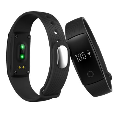V05C Bluetooth Heart Rate SmartbandSmart Watches<br>V05C Bluetooth Heart Rate Smartband<br><br>Band material: Silicone<br>Band size: 25 x 1.56 cm<br>Battery  Capacity: 80mAh<br>Bluetooth calling: Callers name display,Phone call reminder<br>Bluetooth Version: Bluetooth 4.0<br>Built-in chip type: NRF51822<br>Case material: ABS<br>Charging Time: About 2hours<br>Compatability: Android 4.4 or above,  iOS 9.0 or above<br>Compatible OS: IOS, Android<br>Dial size: 4.11 x 2.05 x 1.25 cm<br>Groups of alarm: 3<br>Health tracker: Heart rate monitor,Pedometer,Sedentary reminder,Sleep monitor<br>IP rating: IP65<br>Messaging: Message reminder<br>Notification type: Wechat, WhatsApp, Twitter, Skype, Facebook<br>Operating mode: Touch Key<br>Other Function: Alarm, Calender<br>Package Contents: 1 x Smartband, 1 x English-Chinese Manual, 1 x Charging Cable<br>Package size (L x W x H): 15.00 x 10.00 x 3.80 cm / 5.91 x 3.94 x 1.5 inches<br>Package weight: 0.6600 kg<br>People: Female table,Male table<br>Product size (L x W x H): 25.00 x 2.05 x 1.25 cm / 9.84 x 0.81 x 0.49 inches<br>Product weight: 0.0200 kg<br>RAM: 16K<br>ROM: 256K<br>Screen: OLED<br>Screen resolution: 128 x 32<br>Shape of the dial: Rectangle<br>Standby time: 7 - 10 days<br>Type of battery: Polymer lithium-ion battery<br>Waterproof: Yes<br>Wearing diameter: 17.3 - 23.5 cm