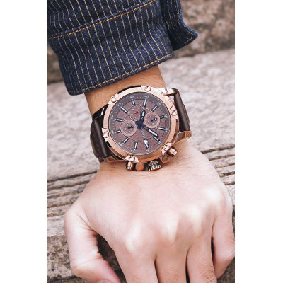 OCHSTIN 6075G Men Working Sub-dial Quartz WatchMens Watches<br>OCHSTIN 6075G Men Working Sub-dial Quartz Watch<br><br>Band material: Genuine Leather<br>Brand: OCHSTIN<br>Case material: Stainless Steel<br>Clasp type: Pin buckle<br>Display type: Analog<br>Movement type: Quartz watch<br>Package Contents: 1 x OCHSTIN 6075G Men Working Sub-dial Quartz Watch<br>Package size (L x W x H): 15.00 x 8.00 x 5.00 cm / 5.91 x 3.15 x 1.97 inches<br>Package weight: 0.1300 kg<br>Product size (L x W x H): 27.00 x 4.60 x 1.50 cm / 10.63 x 1.81 x 0.59 inches<br>Product weight: 0.1080 kg<br>Shape of the dial: Round<br>Watch style: Business<br>Watches categories: Men