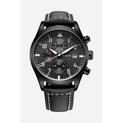 OCHSTIN Outdoor Working Sub-dial 3ATM Men Quartz WatchMens Watches<br>OCHSTIN Outdoor Working Sub-dial 3ATM Men Quartz Watch<br><br>Available Color: Black,Coffee,Orange<br>Band material: Genuine Leather<br>Band size: 25 x 2.2 cm / 9.84 x 0.87 inches<br>Case material: Stainless Steel<br>Clasp type: Pin buckle<br>Dial size: 4.2 x 4.2 x 1.3 cm / 1.65 x 1.65 x 0.51 inches<br>Display type: Analog<br>Movement type: Quartz watch<br>Package Contents: 1 x OCHSTIN Outdoor Men Quartz Watch<br>Package size (L x W x H): 28.00 x 8.00 x 3.50 cm / 11.02 x 3.15 x 1.38 inches<br>Package weight: 0.1320 kg<br>Product size (L x W x H): 25.00 x 4.20 x 1.30 cm / 9.84 x 1.65 x 0.51 inches<br>Product weight: 0.0720 kg<br>Shape of the dial: Round<br>Special features: Stopwatch, Day, Date<br>Watch style: Trends in outdoor sports<br>Watches categories: Male table<br>Water resistance : 30 meters