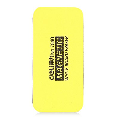 Deli 7840 Magnetic Board Eraser Cleaning Office SuppliesOther Supplies<br>Deli 7840 Magnetic Board Eraser Cleaning Office Supplies<br><br>Color: Yellow<br>Material: Nano Sponge<br>Model: 7840<br>Package Contents: 1 x Magnetic Board Eraser<br>Package size (L x W x H): 12.00 x 6.00 x 4.00 cm / 4.72 x 2.36 x 1.57 inches<br>Package weight: 0.0300 kg<br>Product size (L x W x H): 11.00 x 5.00 x 3.00 cm / 4.33 x 1.97 x 1.18 inches<br>Product weight: 0.0140 kg