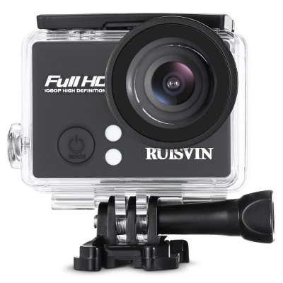RUISVIN S60 1080P FHD Action Sports Camera Sunplus 1521 ChipsetAction Cameras<br>RUISVIN S60 1080P FHD Action Sports Camera Sunplus 1521 Chipset<br><br>Aerial Photography: No<br>Anti-shake: Yes<br>Application: Underwater, Ski, Extreme Sports<br>Auto Focusing: No<br>Battery Capacity (mAh): 900mAh<br>Battery Type: Removable<br>Brand Name: RUISVIN<br>Camera Timer: No<br>Charge way: USB charge by PC<br>Charging Time: 4h<br>Chipset: Sunplus 1521<br>Chipset Name: Sunplus<br>Function: Waterproof, Anti-Shake<br>Image Format : JPEG<br>Language: English,French,German,Korean,Portuguese,Simplified Chinese,Traditional Chinese<br>Lens Diameter: 22mm<br>Max External Card Supported: TF 32G (not included)<br>Model: S60<br>Night vision : No<br>Package Contents: 1 x S60 Action Camera, 1 x Waterproof Housing + Screw + Mount, 1 x English User Manual, 1 x Clip, 1 x Frame, 1 x Bicycle Mount, 1 x J-shaped Mount, 3 x Connector + Screw, 1 x Tripod Adapter + Tripod M<br>Package size (L x W x H): 27.50 x 17.00 x 7.00 cm / 10.83 x 6.69 x 2.76 inches<br>Package weight: 0.4730 kg<br>Product size (L x W x H): 5.90 x 4.00 x 2.90 cm / 2.32 x 1.57 x 1.14 inches<br>Product weight: 0.0510 kg<br>Screen: With Screen<br>Screen resolution: 640 x 320<br>Screen size: 2.0inch<br>Standby time: 8h<br>Type: Sports Camera<br>Type of Camera: 1080P<br>Video format: AVI<br>Video Frame Rate: 30FPS<br>Video Resolution: 1080P(30fps)<br>Water Resistant: 30m ( with waterproof case )<br>Waterproof: Yes<br>Wide Angle: 140 degree wide angle<br>WIFI: No<br>Working Time: 160mins at 1080P / 320mins at 720P / 480mins at VGA