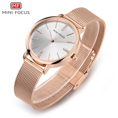 MINIFOCUS MF0036L Quartz Watch for WomenWomens Watches<br>MINIFOCUS MF0036L Quartz Watch for Women<br><br>Band material: Steel<br>Band size: 21.00 x 1.60 cm / 8.27 x 0.62 inches<br>Brand: MINIFOCUS<br>Case material: Alloy<br>Clasp type: Hook buckle<br>Dial size: 3.50 x 3.50 x 0.80 cm / 1.38 x 1.38 x 0.31 inches<br>Display type: Analog<br>Movement type: Quartz watch<br>Package Contents: 1 x MINIFOCUS Women Quartz Watch<br>Package size (L x W x H): 26.00 x 6.40 x 2.20 cm / 10.24 x 2.52 x 0.87 inches<br>Package weight: 0.0780 kg<br>Product size (L x W x H): 21.00 x 3.50 x 0.80 cm / 8.27 x 1.38 x 0.31 inches<br>Product weight: 0.0480 kg<br>Shape of the dial: Round<br>Watch style: Fashion<br>Watches categories: Female table<br>Water resistance : Life water resistant