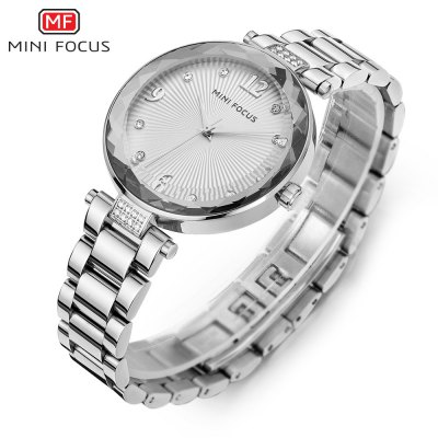 MINIFOCUS MF0038L Quartz Watch for WomenWomens Watches<br>MINIFOCUS MF0038L Quartz Watch for Women<br><br>Band material: Steel<br>Band size: 20.00 x 1.60 cm / 7.87 x 1.50 x 0.62 inches<br>Brand: MINIFOCUS<br>Case material: Alloy<br>Clasp type: Butterfly clasp<br>Dial size: 3.50 x 3.50 x 0.80 cm / 1.38 x 1.38 x 0.31 inches<br>Display type: Analog<br>Movement type: Quartz watch<br>Package Contents: 1 x MINIFOCUS Women Quartz Watch<br>Package size (L x W x H): 22.00 x 5.00 x 1.80 cm / 8.66 x 1.97 x 0.71 inches<br>Package weight: 0.1110 kg<br>Product size (L x W x H): 20.00 x 3.50 x 0.80 cm / 7.87 x 1.38 x 0.31 inches<br>Product weight: 0.0810 kg<br>Shape of the dial: Round<br>Watch mirror: Mineral glass<br>Watch style: Fashion<br>Watches categories: Female table<br>Water resistance : Life water resistant