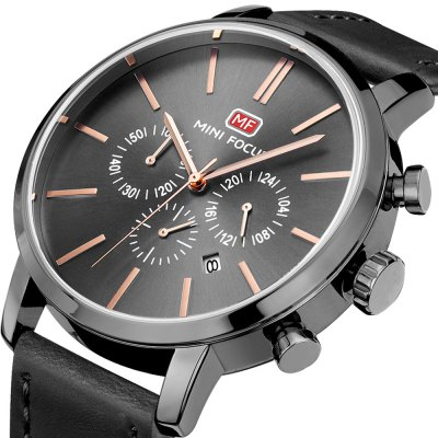 MINIFOCUS MF0023G Quartz Watch for MenMens Watches<br>MINIFOCUS MF0023G Quartz Watch for Men<br><br>Band material: Genuine Leather<br>Band size: 22.50 x 2.20 cm / 8.86 x 0.86 inches<br>Brand: MINI FOCUS<br>Case material: Alloy<br>Clasp type: Pin buckle<br>Dial size: 4.60 x 4.60 x 1.10 cm / 1.81 x 1.81 x 0.43 inches<br>Display type: Analog<br>Movement type: Quartz watch<br>Package Contents: 1 x MINIFOCUS Male Quartz Watch<br>Package size (L x W x H): 26.00 x 6.40 x 2.20 cm / 10.24 x 2.52 x 0.87 inches<br>Package weight: 0.1170 kg<br>Product size (L x W x H): 22.50 x 4.60 x 1.10 cm / 8.86 x 1.81 x 0.43 inches<br>Product weight: 0.0870 kg<br>Shape of the dial: Round<br>Watch mirror: Mineral glass<br>Watch style: Fashion<br>Watches categories: Male table<br>Water resistance : Life water resistant<br>Wearable length: 16.00 - 20.00 cm / 6.29 - 7.87 inches