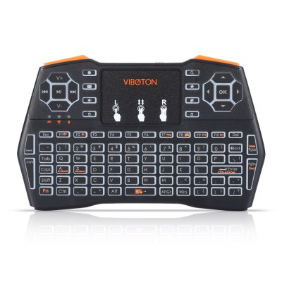 VIBOTON i8 Plus Wireless Keyboard Backlight VersionAir Mouse<br>VIBOTON i8 Plus Wireless Keyboard Backlight Version<br><br>Battery Capacity (mAh): 1020mAh<br>Brand: Viboton<br>Charging Time: About 2 Hours<br>Connection Type: 2.4GHz Wireless<br>Interface: USB 2.0<br>Model: i8 Plus<br>Package size: 19.40 x 11.00 x 2.80 cm / 7.64 x 4.33 x 1.1 inches<br>Package weight: 0.2100 kg<br>Packing List: 1 x Handheld Wireless Keyboard, 1 x USB Cable, 1 x USB Receiver, 1 x English User Manual<br>Powered by: Lithium Battery<br>Product Features: Remote Controller, Air Mouse, Ergonomic, Gaming<br>Product size: 15.00 x 9.50 x 1.50 cm / 5.91 x 3.74 x 0.59 inches<br>Product weight: 0.1180 kg<br>Suitable for: Andriod TV Box, XBOX360, PC, Pad, Android TV, Google TV Box