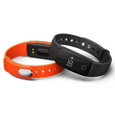 V05C Bluetooth Heart Rate SmartbandSmart Watches<br>V05C Bluetooth Heart Rate Smartband<br><br>Band material: Silicone<br>Band size: 25 x 1.56 cm<br>Battery  Capacity: 80mAh<br>Bluetooth calling: Callers name display,Phone call reminder<br>Bluetooth Version: Bluetooth 4.0<br>Built-in chip type: NRF51822<br>Case material: ABS<br>Charging Time: About 2hours<br>Compatability: Android 4.4 or above,  iOS 9.0 or above<br>Compatible OS: IOS, Android<br>Dial size: 4.11 x 2.05 x 1.25 cm<br>Groups of alarm: 3<br>Health tracker: Heart rate monitor,Pedometer,Sedentary reminder,Sleep monitor<br>IP rating: IP65<br>Messaging: Message reminder<br>Notification type: Wechat, WhatsApp, Twitter, Skype, Facebook<br>Operating mode: Touch Key<br>Other Function: Alarm, Calender<br>Package Contents: 1 x Smartband, 1 x English-Chinese Manual, 1 x Charging Cable<br>Package size (L x W x H): 15.00 x 10.00 x 3.80 cm / 5.91 x 3.94 x 1.5 inches<br>Package weight: 0.0650 kg<br>People: Female table,Male table<br>Product size (L x W x H): 25.00 x 2.05 x 1.25 cm / 9.84 x 0.81 x 0.49 inches<br>Product weight: 0.0200 kg<br>RAM: 16K<br>ROM: 256K<br>Screen: OLED<br>Screen resolution: 128 x 32<br>Shape of the dial: Rectangle<br>Standby time: 7 - 10 days<br>Type of battery: Polymer lithium-ion battery<br>Waterproof: Yes<br>Wearing diameter: 17.3 - 23.5 cm