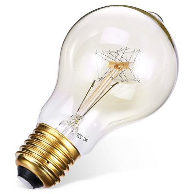 AC 220 - 240V 40W E27 A19 Incandescent Bulb Edison LampGlobe bulbs<br>AC 220 - 240V 40W E27 A19 Incandescent Bulb Edison Lamp<br><br>Available Light Color: Warm White<br>CCT/Wavelength: 3000K<br>Features: Long Life Expectancy<br>Function: Home Lighting<br>Holder: E27<br>Output Power: 40W<br>Package Contents: 1 x E27 Edison Bulb<br>Package size (L x W x H): 6.50 x 6.50 x 13.00 cm / 2.56 x 2.56 x 5.12 inches<br>Package weight: 0.0800 kg<br>Product weight: 0.0400 kg<br>Sheathing Material: Aluminum, Glass<br>Type: Edison Bulb<br>Voltage (V): AC 220-240