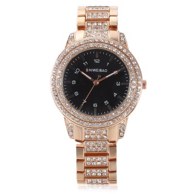 SHI WEI BAO J3368 Quartz WatchWomens Watches<br>SHI WEI BAO J3368 Quartz Watch<br><br>Band material: Alloys<br>Band size: 21.70 x 1.70 cm / 8.54 x 0.66 inches<br>Brand: Shiweibao<br>Case material: Alloy<br>Clasp type: Folding clasp with safety<br>Dial size: 3.86 x 3.86 x 1.08 cm / 1.52 x 1.52 x 0.43 inches<br>Display type: Analog<br>Movement type: Quartz watch<br>Package Contents: 1 x SHI WEI BAO Watch, 1 x Box<br>Package size (L x W x H): 11.50 x 9.00 x 9.00 cm / 4.53 x 3.54 x 3.54 inches<br>Package weight: 0.1900 kg<br>Product size (L x W x H): 21.70 x 3.86 x 1.08 cm / 8.54 x 1.52 x 0.43 inches<br>Product weight: 0.0880 kg<br>Shape of the dial: Round<br>Watch style: Business<br>Watches categories: Women<br>Water resistance : Life water resistant