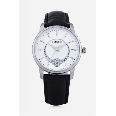 OCHSTIN 6060G Female Quartz WatchWomens Watches<br>OCHSTIN 6060G Female Quartz Watch<br><br>Band material: Genuine Leather<br>Band size: 23.80 x 1.6cm / 9.37 x 0.63 inches<br>Brand: OCHSTIN<br>Case material: Alloy<br>Clasp type: Pin buckle<br>Dial size: 3.50 x 3.50 x 0.8cm / 1.38 x 1.38 x 0.31 inches<br>Display type: Analog<br>Movement type: Quartz watch<br>Package Contents: 1 x OCHSTIN Women Quartz Watch<br>Package size (L x W x H): 16.00 x 8.00 x 4.50 cm / 6.3 x 3.15 x 1.77 inches<br>Package weight: 0.1340 kg<br>Product size (L x W x H): 23.80 x 3.50 x 0.80 cm / 9.37 x 1.38 x 0.31 inches<br>Product weight: 0.0340 kg<br>Shape of the dial: Round<br>Special features: Rhinestone, Date<br>Watch color: Black, White and Black, White<br>Watch mirror: Mineral glass<br>Watch style: Casual, Fashion<br>Watches categories: Female table<br>Water resistance : 30 meters<br>Wearable length: 18.00 - 21.00cm / 7.09 - 8.27 inches