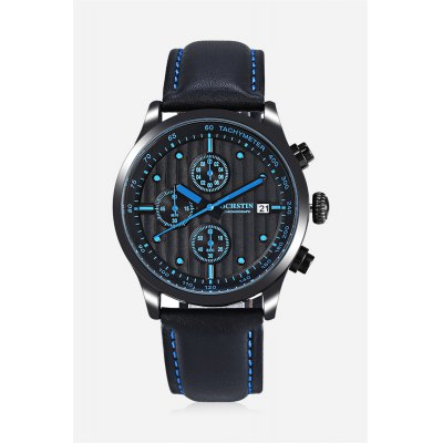 OCHSTIN 6042G Male Quartz WatchMens Watches<br>OCHSTIN 6042G Male Quartz Watch<br><br>Band material: Genuine Leather<br>Band size: 25.80 x 2.20 cm / 10.16 x 0.86 inches<br>Brand: OCHSTIN<br>Case material: Alloy<br>Clasp type: Pin buckle<br>Dial size: 4.20 x 4.20 x 1cm / 1.65 x 1.65 x 0.39 inches<br>Display type: Analog<br>Movement type: Quartz watch<br>Package Contents: 1 x OCHSTIN 6042G Men Watch, 1 x Box<br>Package size (L x W x H): 16.00 x 8.00 x 4.50 cm / 6.3 x 3.15 x 1.77 inches<br>Package weight: 0.1610 kg<br>Product size (L x W x H): 25.80 x 4.20 x 1.00 cm / 10.16 x 1.65 x 0.39 inches<br>Product weight: 0.0610 kg<br>Shape of the dial: Round<br>Special features: Working sub-dial, Date<br>Watch color: Yellow, Orange, Blue, Black, White<br>Watch mirror: Mineral glass<br>Watch style: Business, Fashion<br>Watches categories: Male table<br>Water resistance : 30 meters<br>Wearable length: 19.00 - 23.00cm / 7.48 - 9.06 inches