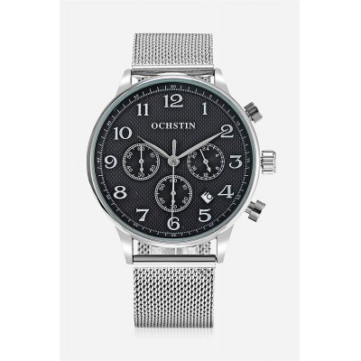 OCHSTIN 6050G Men Working Sub-dial Quartz WatchMens Watches<br>OCHSTIN 6050G Men Working Sub-dial Quartz Watch<br><br>Available Color: Black,Rose Gold,Silver<br>Band material: Steel<br>Band size: 25.00 x 2.00 cm / 9.84 x 0.78 inches<br>Brand: OCHSTIN<br>Case material: Alloy<br>Clasp type: Hook buckle<br>Dial size: 4.50 x 4.50 x 1.30 cm / 1.77 x 1.77 x 0.51 inches<br>Display type: Analog<br>Movement type: Quartz watch<br>Package Contents: 1 x OCHSTIN 6050G Male Quartz Watch<br>Package size (L x W x H): 16.00 x 8.00 x 4.50 cm / 6.3 x 3.15 x 1.77 inches<br>Package weight: 0.1850 kg<br>Product size (L x W x H): 25.00 x 4.50 x 1.30 cm / 9.84 x 1.77 x 0.51 inches<br>Product weight: 0.0850 kg<br>Shape of the dial: Round<br>Watch style: Business<br>Watches categories: Male table