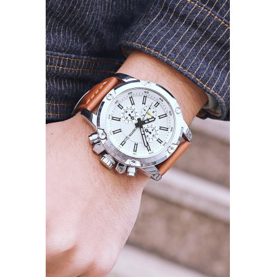 OCHSTIN 6075G Men Working Sub-dial Quartz WatchMens Watches<br>OCHSTIN 6075G Men Working Sub-dial Quartz Watch<br><br>Band material: Genuine Leather<br>Brand: OCHSTIN<br>Case material: Stainless Steel<br>Clasp type: Pin buckle<br>Display type: Analog<br>Movement type: Quartz watch<br>Package Contents: 1 x OCHSTIN 6075G Men Working Sub-dial Quartz Watch<br>Package size (L x W x H): 15.00 x 8.00 x 5.00 cm / 5.91 x 3.15 x 1.97 inches<br>Package weight: 0.1300 kg<br>Product size (L x W x H): 27.00 x 4.60 x 1.50 cm / 10.63 x 1.81 x 0.59 inches<br>Product weight: 0.1080 kg<br>Shape of the dial: Round<br>Watch style: Business<br>Watches categories: Male table