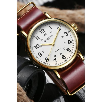 OCHSTIN 1249 Fashion Cowhide Bracelet Men Number WatchMens Watches<br>OCHSTIN 1249 Fashion Cowhide Bracelet Men Number Watch<br><br>Band material: Genuine Leather<br>Case material: Metal<br>Clasp type: Pin buckle<br>Display type: Analog<br>Movement type: Quartz watch<br>Package Contents: 1 x OCHSTIN 1249 Men Number Watch<br>Package size (L x W x H): 15.00 x 7.00 x 5.00 cm / 5.91 x 2.76 x 1.97 inches<br>Package weight: 0.0850 kg<br>Product size (L x W x H): 22.50 x 4.00 x 1.00 cm / 8.86 x 1.57 x 0.39 inches<br>Product weight: 0.0570 kg<br>Shape of the dial: Round<br>Watch style: Business<br>Watches categories: Men