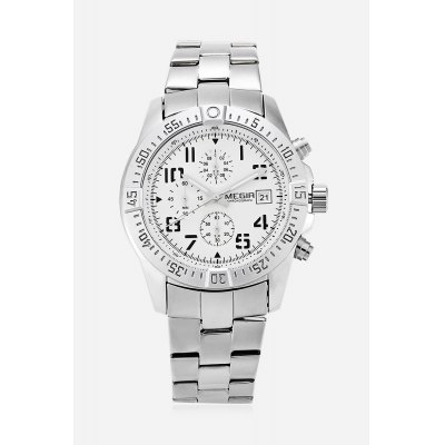 MEGIR 2030 Fashion Men Quartz WatchMens Watches<br>MEGIR 2030 Fashion Men Quartz Watch<br><br>Band material: Stainless Steel<br>Band size: 22.2 x 2.2 cm / 8.74 x 0.87 inches<br>Brand: MEGIR<br>Case material: Alloy<br>Clasp type: Folding clasp with safety<br>Dial size: 4.3 x 4.3 x 1.2 cm / 1.69 x 1.69 x 0.47 inches<br>Display type: Analog<br>Movement type: Quartz watch<br>Package Contents: 1 x MEGIR 2030 Fashion Men Quartz Watch, 1 x Box<br>Package size (L x W x H): 11.80 x 7.50 x 6.80 cm / 4.65 x 2.95 x 2.68 inches<br>Package weight: 0.290 kg<br>Product size (L x W x H): 22.20 x 4.30 x 1.20 cm / 8.74 x 1.69 x 0.47 inches<br>Product weight: 0.152 kg<br>Shape of the dial: Round<br>Special features: Date, Working sub-dial, Day<br>Watch color: Black, Black + Silver, Silver<br>Watch style: Fashion<br>Watches categories: Male table<br>Water resistance : Life water resistant