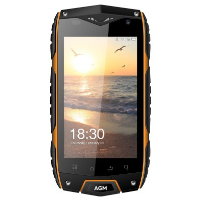 AGM A7 4G SmartphoneCell phones<br>AGM A7 4G Smartphone<br><br>2G: GSM 1800MHz,GSM 1900MHz,GSM 850MHz,GSM 900MHz<br>3G: WCDMA B1 2100MHz,WCDMA B8 900MHz<br>4G LTE: FDD B2 1900MHz,FDD B20 800MHz,FDD B3 1800MHz,FDD B7 2600MHz<br>Additional Features: 3G, 4G, Alarm, Bluetooth, Camera, GPS, MP3, People, WiFi<br>Back-camera: 8.0MP<br>Battery Capacity (mAh): 1 x 2930mAh<br>Bluetooth Version: V4.0<br>Brand: AGM<br>Camera type: Dual cameras (one front one back)<br>Cell Phone: 1<br>Cores: 1.1GHz, Quad Core<br>CPU: MSM8909<br>E-book format: TXT<br>English Manual : 1<br>External Memory: TF card up to 32GB (not included)<br>Front camera: 0.3MP<br>Google Play Store: Yes<br>I/O Interface: 2 x Standard SIM Card Slot, 3.5mm Audio Out Port, Micro USB Slot, Speaker, Micophone, TF/Micro SD Card Slot<br>Language: Afrikaans, Bahasa Indonesia, Bahasa Melayu, Catal? ?e?tina, Dansk, Deutsch, English (United Kingdom), English (United States), Espa?ol (Espa?a), Espa?ol (Estados Unidos), Filipino, Fran?ais (Canada),<br>Music format: ACC, AAC, MP3, OGG, AMR<br>Network type: FDD-LTE,GSM,WCDMA<br>OS: Android 6.0<br>Package size: 18.10 x 10.55 x 6.67 cm / 7.13 x 4.15 x 2.63 inches<br>Package weight: 0.5220 kg<br>Picture format: JPG, PNG, JPEG, GIF, BMP<br>Power Adapter: 1<br>Product size: 13.90 x 7.40 x 1.80 cm / 5.47 x 2.91 x 0.71 inches<br>Product weight: 0.2550 kg<br>RAM: 2GB RAM<br>ROM: 16GB<br>Screen resolution: 800 x 480 (WVGA)<br>Screen size: 4.0 inch<br>Screen type: Capacitive<br>Sensor: Ambient Light Sensor,Geomagnetic Sensor,Gravity Sensor,Proximity Sensor<br>Service Provider: Unlocked<br>SIM Card Slot: Dual Standby, Dual SIM<br>SIM Card Type: Standard SIM Card<br>Type: 4G Smartphone<br>USB Cable: 1<br>Video format: 3GP, MP4<br>WIFI: 802.11b/g/n wireless internet<br>Wireless Connectivity: Bluetooth 4.0, GPS, 3G, GSM, WiFi, 4G
