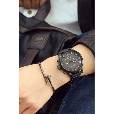 OCHSTIN Fashion Working Sub-dial Men Quartz WatchMens Watches<br>OCHSTIN Fashion Working Sub-dial Men Quartz Watch<br><br>Available Color: Black,Orange,Red,Rose Gold,Silver<br>Band material: Genuine Leather<br>Band size: 25.4 x 2.2 cm / 10 x 0.87 inches<br>Case material: Stainless Steel<br>Clasp type: Pin buckle<br>Dial size: 4.5 x 4.5 x 1.2 cm / 1.77 x 1.77 x 0.47 inches<br>Display type: Analog<br>Movement type: Quartz watch<br>Package Contents: 1 x OCHSTIN Fashion Men Quartz Watch<br>Package size (L x W x H): 28.00 x 8.00 x 3.50 cm / 11.02 x 3.15 x 1.38 inches<br>Package weight: 0.1060 kg<br>Product size (L x W x H): 25.40 x 4.50 x 1.20 cm / 10 x 1.77 x 0.47 inches<br>Product weight: 0.0760 kg<br>Shape of the dial: Round<br>Special features: Date<br>Watch style: Fashion<br>Watches categories: Male table<br>Water resistance : 30 meters