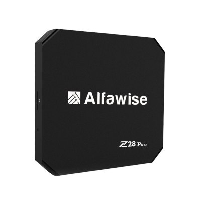 Alfawise Z28 Pro Smart TV BoxTV Box<br>Alfawise Z28 Pro Smart TV Box<br><br>5G WiFi: Yes<br>Audio format: MP3, WMA, WAV, OGA, OGG, AAC, APE, FLAC, M4A<br>Bluetooth: Bluetooth4.0<br>Brand: Alfawise<br>Camera: Without<br>Core: 1.5GHz, Quad Core<br>CPU: ARM Cortex-A53<br>Decoder Format: H.264, H.265<br>GPU: Mali-450<br>Interface: SPDIF, USB3.0, USB2.0, HDMI, DC Power Port, AV, RJ45, Micro SD Card Slot<br>Maximum External Hard Drives Capacity: 64GB<br>Model: Z28 Pro<br>Package Contents: 1 x Z28 Pro RK3328 Smart TV Box, 1 x Power Charger, 1 x Remote Control, 1 x HDMI Cable, 1 x English User Manual<br>Package size (L x W x H): 18.00 x 11.00 x 6.60 cm / 7.09 x 4.33 x 2.6 inches<br>Package weight: 0.3900 kg<br>Photo Format: JPG, BMP, GIF, JPEG<br>Power Supply: Charge Adapter<br>Power Type: External Power Adapter Mode<br>Processor: RK3328<br>Product size (L x W x H): 10.00 x 10.00 x 1.60 cm / 3.94 x 3.94 x 0.63 inches<br>Product weight: 0.1200 kg<br>RAM: 2G RAM<br>ROM: 16G ROM<br>Suggest Input: 5V 2A<br>System: Android 7.1<br>System Bit: 64Bit<br>Type: TV Box<br>Video format: AVS, VP6, VC-1, VP8, RV, VP9, MVC, MPEG2, MPEG-4, MPEG-1<br>WIFI: 802.11 a/b/g/n/ac