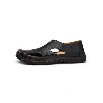 Men Leather SandalsMens Sandals<br>Men Leather Sandals<br><br>Contents: 1 x Pair of Shoes<br>Materials: Artificial leather<br>Occasion: Casual<br>Package Size ( L x W x H ): 33.00 x 22.00 x 11.00 cm / 12.99 x 8.66 x 4.33 inches<br>Package Weights: 0.980kg<br>Seasons: Summer<br>Style: Leisure<br>Type: Sandals