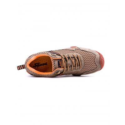 Mesh Patchwork Hiking ShoesHiking Shoes<br>Mesh Patchwork Hiking Shoes<br><br>Closure Type: Lace-Up<br>Features: Anti-slip, Breathable, Durable<br>Gender: Men<br>Package Contents: 1 x Pair of Shoes<br>Package size: 33.00 x 22.00 x 11.00 cm / 12.99 x 8.66 x 4.33 inches<br>Package weight: 0.9800 kg<br>Product weight: 0.8000 kg<br>Season: Summer, Spring, Autumn<br>Sole Material: Rubber<br>Type: Hiking Shoes
