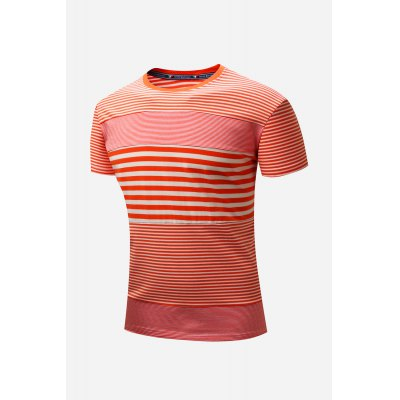 Men Stripe Spliced 100 Cotton T-shirtMens Short Sleeve Tees<br>Men Stripe Spliced 100 Cotton T-shirt<br><br>Fabric Type: Cotton<br>Neckline: Round Neck<br>Package Content: 1 x T-shirt<br>Package size: 36.00 x 26.00 x 2.00 cm / 14.17 x 10.24 x 0.79 inches<br>Package weight: 0.2300 kg<br>Pattern Type: Striped<br>Product weight: 0.1900 kg<br>Season: Winter, Summer, Spring, Autumn<br>Sleeve Length: Short Sleeves<br>Style: Casual