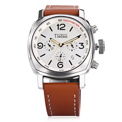 TIEDAN 4350 Men Quartz WatchMens Watches<br>TIEDAN 4350 Men Quartz Watch<br><br>Band material: Leather<br>Band size: 26.00 x 2.50 cm / 10.24 x 0.98 inches<br>Brand: TIEDAN<br>Case material: Alloy<br>Clasp type: Pin buckle<br>Dial size: 4.50 x 4.50 x 1.30 cm / 1.77 x 1.77 x 0.51 inches<br>Display type: Analog<br>Movement type: Quartz watch<br>Package Contents: 1 x TIEDAN Quartz Watch, 1 x Watch Box<br>Package size (L x W x H): 28.00 x 8.00 x 3.50 cm / 11.02 x 3.15 x 1.38 inches<br>Package weight: 0.1600 kg<br>Product size (L x W x H): 26.00 x 4.50 x 1.30 cm / 10.24 x 1.77 x 0.51 inches<br>Product weight: 0.1000 kg<br>Shape of the dial: Arch<br>Special features: Luminous<br>Watch mirror: Mineral glass<br>Watch style: Casual<br>Watches categories: Male table<br>Water resistance : Life water resistant<br>Wearable length: 17.00 - 22.00 cm / 6.69 - 8.66 inches