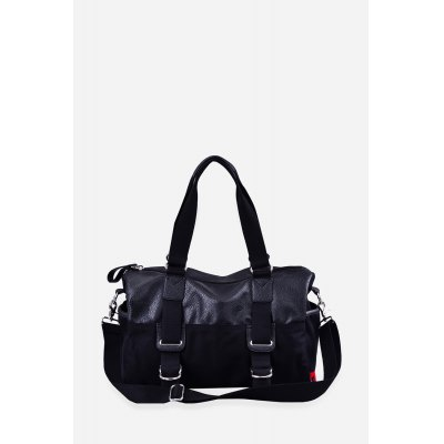 Douguyan PU Canvas Splicing Travel BagMens Bags<br>Douguyan PU Canvas Splicing Travel Bag<br><br>Brand: Douguyan<br>Closure Type: Zip<br>Color: Black<br>Material: Canvas, PU<br>Package Size(L x W x H): 42.00 x 14.00 x 27.00 cm / 16.54 x 5.51 x 10.63 inches<br>Package weight: 1.1300 kg<br>Packing List: 1 x Douguyan Bag<br>Product Size(L x W x H): 41.00 x 13.00 x 26.00 cm / 16.14 x 5.12 x 10.24 inches<br>Product weight: 1.0000 kg<br>Style: Casual<br>Type: Shoulder bag