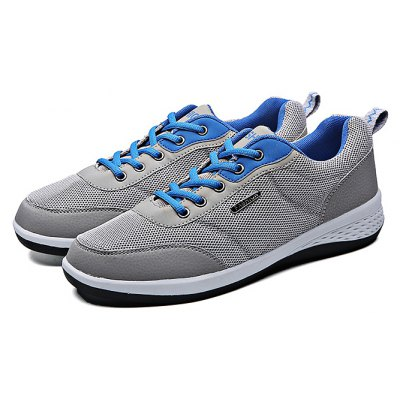 Mesh Running Lace Up Sports  Male Casual Shoes