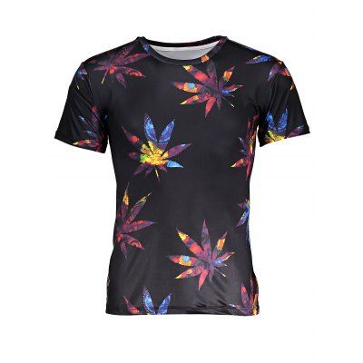 Leaf 3D Printed T Shirts for MenMens Short Sleeve Tees<br>Leaf 3D Printed T Shirts for Men<br><br>Color: Black<br>Fabric Type: Polyester, Spandex<br>Neckline: Round Neck<br>Package Content: 1 x T-shirt<br>Package size: 32.00 x 28.00 x 2.00 cm / 12.6 x 11.02 x 0.79 inches<br>Package weight: 0.2000 kg<br>Pattern Type: Floral<br>Product weight: 0.1500 kg<br>Season: Summer<br>Sleeve Length: Short Sleeves<br>Style: Casual