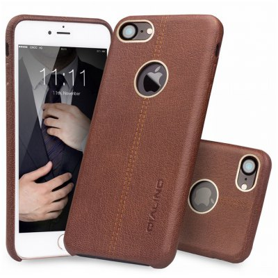 QIALINO Back Cover for iPhone 7iPhone Cases/Covers<br>QIALINO Back Cover for iPhone 7<br><br>Brand: QIALINO<br>Compatible for Apple: iPhone 7<br>Features: Anti-knock, Back Cover<br>Material: Cowhide<br>Package Contents: 1 x Phone Case<br>Package size (L x W x H): 19.00 x 14.00 x 3.30 cm / 7.48 x 5.51 x 1.3 inches<br>Package weight: 0.1550 kg<br>Product size (L x W x H): 14.00 x 7.00 x 1.00 cm / 5.51 x 2.76 x 0.39 inches<br>Product weight: 0.0170 kg<br>Style: Leather, Modern