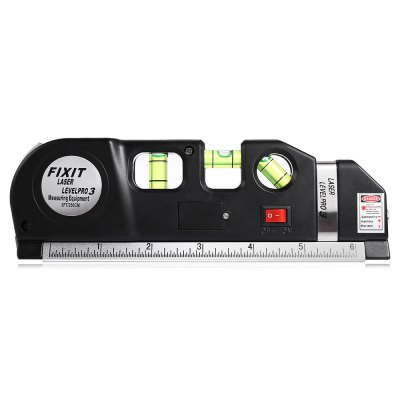 Laser Level Infrared Line Guide Ruler Tape Measuring EquipmentOther Instruments<br>Laser Level Infrared Line Guide Ruler Tape Measuring Equipment<br><br>Battery Quantity: 3<br>Battery Type: AG13 button battery<br>Material: Plastic<br>Package Contents: 1 x Laser Level Instrument, 3 x AG13 Button Battery<br>Package size: 21.00 x 4.00 x 8.00 cm / 8.27 x 1.57 x 3.15 inches<br>Package weight: 0.2410 kg<br>Primary functions: Spirit Level<br>Product size: 19.00 x 2.50 x 6.00 cm / 7.48 x 0.98 x 2.36 inches<br>Product weight: 0.1790 kg<br>Scope of application: Laser Level<br>Type: Measuring instruments