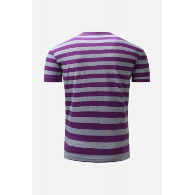 Men Button Neck Striped Casual T-shirtMens Short Sleeve Tees<br>Men Button Neck Striped Casual T-shirt<br><br>Fabric Type: Cotton<br>Package Content: 1 x T-shirt<br>Package size: 36.00 x 26.00 x 2.00 cm / 14.17 x 10.24 x 0.79 inches<br>Package weight: 0.2500 kg<br>Pattern Type: Striped<br>Product weight: 0.2000 kg<br>Season: Winter, Summer, Spring, Autumn<br>Sleeve Length: Short Sleeves<br>Style: Casual
