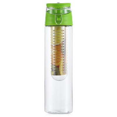 CTSmart Leakproof 800mL Water Bottle with Fruit InfuserOther Camping Gadgets<br>CTSmart Leakproof 800mL Water Bottle with Fruit Infuser<br><br>Brand: CTSmart<br>Capacity: 800mL<br>Package Contents: 1 x CTSmart Water Bottle<br>Package size (L x W x H): 28.00 x 8.50 x 8.50 cm / 11.02 x 3.35 x 3.35 inches<br>Package weight: 0.2400 kg<br>Product size (L x W x H): 26.00 x 7.00 x 7.00 cm / 10.24 x 2.76 x 2.76 inches<br>Product weight: 0.1520 kg