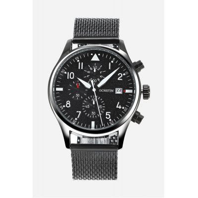 OCHSTIN 6043G Fashion Men Quartz WatchMens Watches<br>OCHSTIN 6043G Fashion Men Quartz Watch<br><br>Band material: Steel<br>Band size: 25.80 x 2.20 cm / 10.16 x 0.86 inches<br>Brand: OCHSTIN<br>Case material: Bronze<br>Clasp type: Hook buckle<br>Dial size: 4.30 x 4.30 x 1.30 cm / 1.69 x 1.69 x 0.51 inches<br>Display type: Analog<br>Movement type: Quartz watch<br>Package Contents: 1 x OCHSTIN 6043G Working Sub-dial Quartz Watch, 1 x Box<br>Package size (L x W x H): 16.00 x 8.00 x 4.50 cm / 6.3 x 3.15 x 1.77 inches<br>Package weight: 0.2130 kg<br>Product size (L x W x H): 25.80 x 4.30 x 1.30 cm / 10.16 x 1.69 x 0.51 inches<br>Product weight: 0.1170 kg<br>Shape of the dial: Round<br>Special features: Working sub-dial, Date<br>Watch color: Purple, Blue, Red, Orange, Silver + White, Black and White<br>Watch mirror: Mineral glass<br>Watch style: Business<br>Watches categories: Male table<br>Water resistance : Life water resistant
