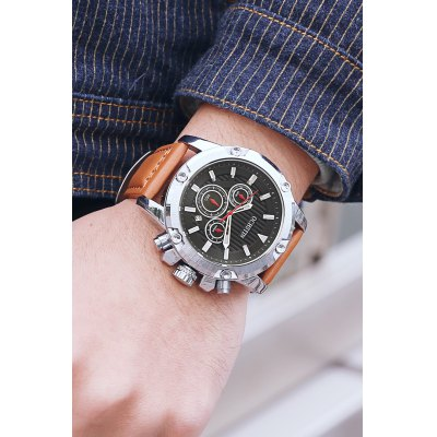 OCHSTIN 6075G Fashion Luminous Pointers Male Quartz WatchMens Watches<br>OCHSTIN 6075G Fashion Luminous Pointers Male Quartz Watch<br><br>Band material: Genuine Leather<br>Brand: OCHSTIN<br>Case material: Stainless Steel<br>Clasp type: Pin buckle<br>Display type: Analog<br>Movement type: Quartz watch<br>Package Contents: 1 x OCHSTIN 6075G Men Working Sub-dial Quartz Watch<br>Package size (L x W x H): 15.00 x 7.00 x 5.00 cm / 5.91 x 2.76 x 1.97 inches<br>Package weight: 0.1300 kg<br>Product size (L x W x H): 26.50 x 4.60 x 1.50 cm / 10.43 x 1.81 x 0.59 inches<br>Product weight: 0.1090 kg<br>Shape of the dial: Round<br>Watch style: Fashion<br>Watches categories: Men