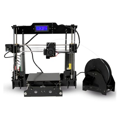 Tronxy Acrylic P802 - MHS 3D Printer3D Printers, 3D Printer Kits<br>Tronxy Acrylic P802 - MHS 3D Printer<br><br>Brand: Tronxy<br>File format: STL, OBJ, G-code<br>Frame material: Acrylic plate<br>Host computer software: Repetier-Host<br>Language: Chinese,English<br>Layer thickness: 0.1-0.4mm<br>LCD Screen: Yes<br>Material diameter: 1.75mm<br>Memory card offline print: SD card<br>Model: P802 - MHS<br>Nozzle diameter: 0.4mm<br>Nozzle quantity: Single<br>Nozzle temperature: 170-275 Degree<br>Package size: 46.00 x 41.00 x 20.00 cm / 18.11 x 16.14 x 7.87 inches<br>Package weight: 9.1000 kg<br>Packing Type: unassembled packing<br>Platform temperature: Room temperature to 110 degree<br>Print speed: 40 - 120mm/s<br>Product forming size: 220 x 220 x 240mm<br>Product size: 43.00 x 38.00 x 18.00 cm / 16.93 x 14.96 x 7.09 inches<br>Product weight: 9.0000 kg<br>Supporting material: PLA, ABS<br>Voltage: 110V/220V<br>XY Axis Speed : 3000mm/min<br>XY-axis positioning accuracy: 0.012mm<br>Z Axis Speed : 200mm/min<br>Z-axis positioning accuracy: 0.004mm